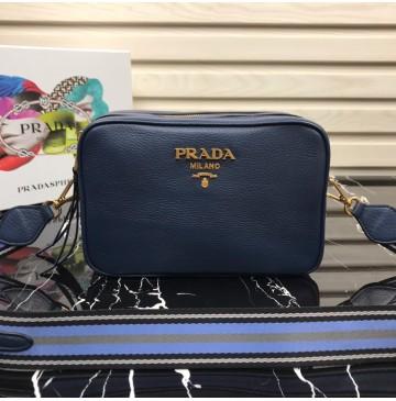 Prada Calf leather shoulder bag Blue