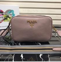 Prada Calf leather shoulder bag Light Pink