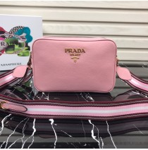 Prada Calf leather shoulder bag Pink