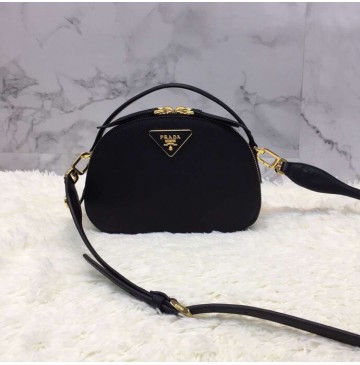 Prada Odette Saffiano leather bag Black