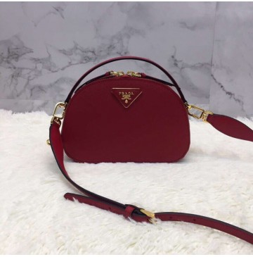 Prada Odette Saffiano leather bag Red