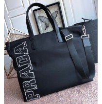 Prada Nylon Bag with Silver Logo Character