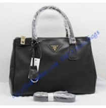 Prada Saffiano Leather Tote P1801 black