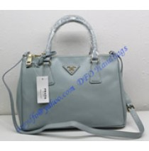 Prada Saffiano Leather Tote P1801 light blue