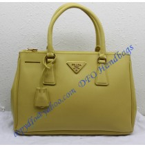 Saffiano Leather Tote P1801 lemon yellow