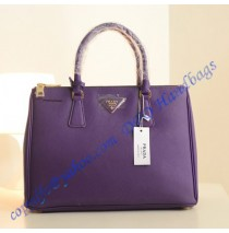 Prada Saffiano Leather Tote P1801 purple
