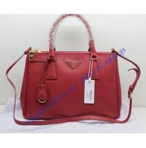 Prada Saffiano Leather Tote P1801 red