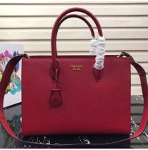 Prada Saffiano Leather Tote Large Red
