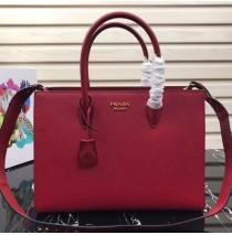 Prada Saffiano Leather Tote Large Red