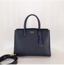Prada Saffiano Leather Tote Large Sapphire Blue