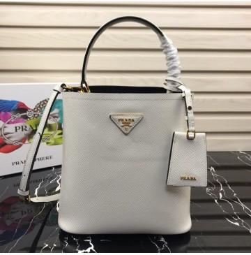 Prada North South Double Bag White