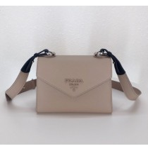 Monochrome Saffiano leather bag Nude Pink