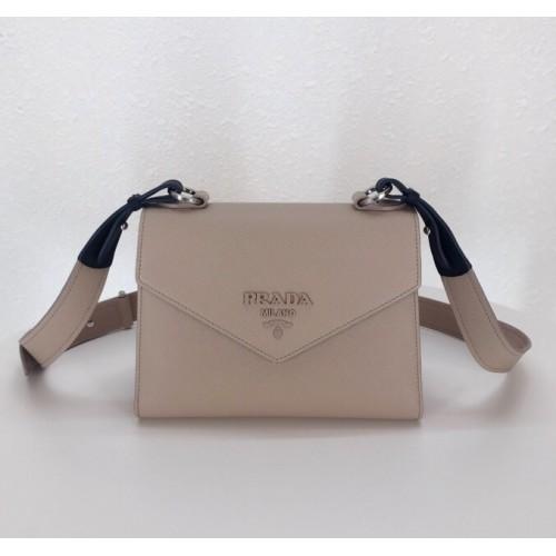 018a06f36d4b Prada Monochrome Saffiano leather bag Nude Pink. Loading zoom