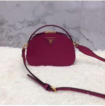 Odette Saffiano leather bag Rose Red