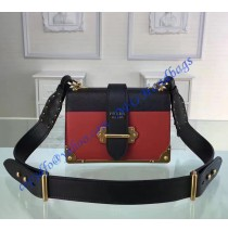 Prada Cahier Bag Red and Black
