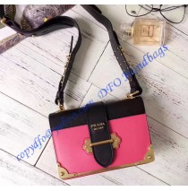 Prada Cahier Bag Rose and Black