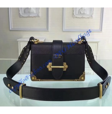 Prada Cahier Bag Black