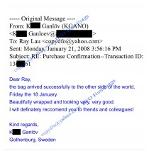 Feedback from K. Ganlov on January 2008