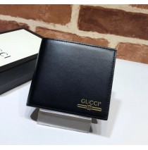 Leather Wallet With Gucci Logo Black