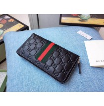 Black Signature Web zip around wallet