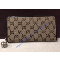 Gucci Zip Around Wallet with interlocking G Detail GU-W233025C brown