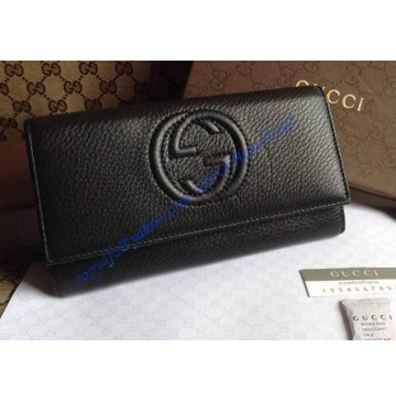 Gucci Soho Leather Continental wallet Black