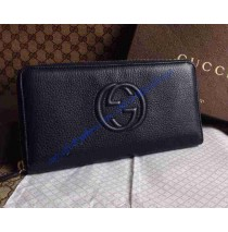 Gucci Leather Zip-around wallet Black