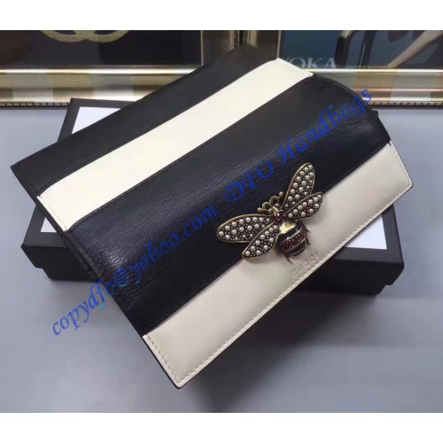 432fa5b9a41946 Gucci Margaret Queen Leather Wallet 476064 Dark Blue | Stanford ...