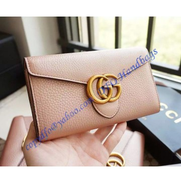 Gucci GG Marmont Continental Wallet Light Pink