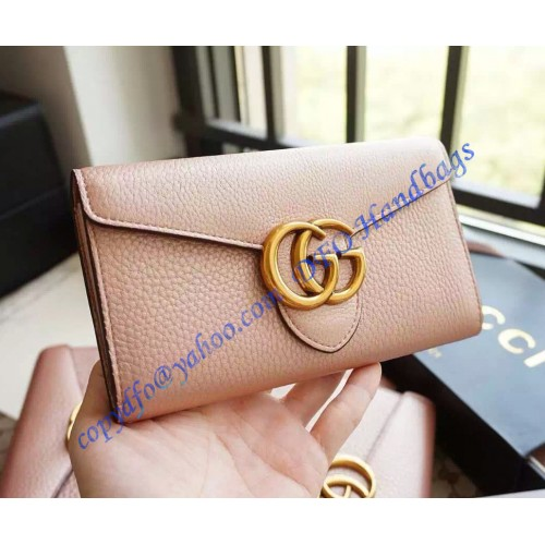 785e15133bf Gucci GG Marmont Continental Wallet Light Pink. Loading zoom
