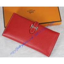 Hermes Bearn Gusset Wallet HW012 red