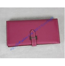 Hermes Bearn Gusset Wallet HW012 rose red