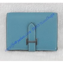Hermes Bearn Mini Wallet HW109 blue
