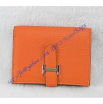 Hermes Bearn Mini Wallet HW109 orange