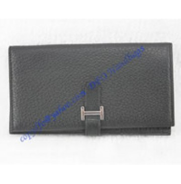 Hermes Bearn Long Wallet HW208 black