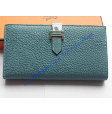 Hermes Bearn Long Wallet HW208 blue