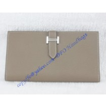 Hermes Bearn Long Wallet HW208 gray