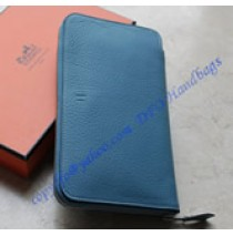 Hermes Azap long wallet HW309 blue