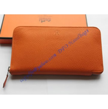 Hermes Azap long wallet HW309 orange