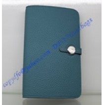 Hermes Dogon Combined Wallet HW508 blue