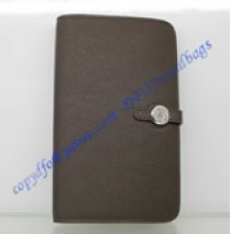 Hermes Dogon Combined Wallet HW508 coffee