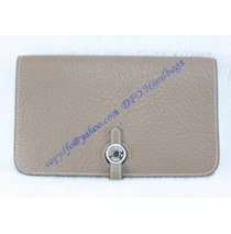 Hermes Dogon Combined Wallet HW508 gray