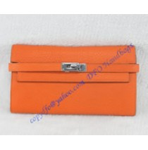 Hermes Kelly Long Wallet HW708 orange