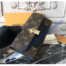 Louis Vuitton Monogram Canvas Flower Wallet Black