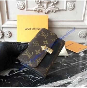 Louis Vuitton Monogram Canvas Flower Compact Wallet Black