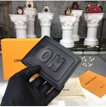 Louis Vuitton Dark Infinity Leather Multiple Wallet M63235