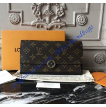 Louis Vuitton Monogram Canvas Flore Wallet Black