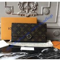 Louis Vuitton Monogram Canvas Flore Wallet Black