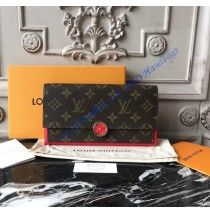 Louis Vuitton Monogram Canvas Flore Wallet Red