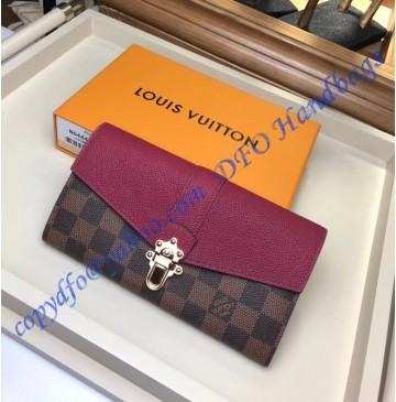 Louis Vuitton Damier Ebene Clapton Wallet Raisin N64448